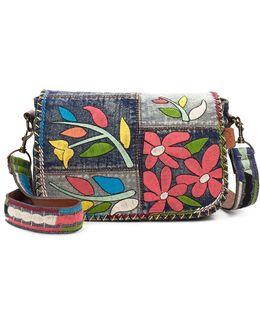Rosa Denim Saddle Bag