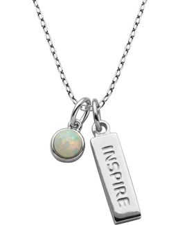Sterling Silver Inspire Pendant Necklace