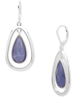 Mother-of-pearl Faceted Drop Earrings