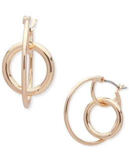 Polyethylene Hoop Earrings