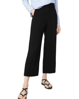 Straight-fit Rollover-cuff Pants