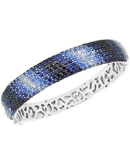 Final Call Sapphire And Sterling Silver Bangle Bracelet