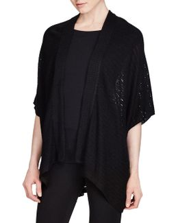 Jinessia Short Sleeves Pointelle Cardigan