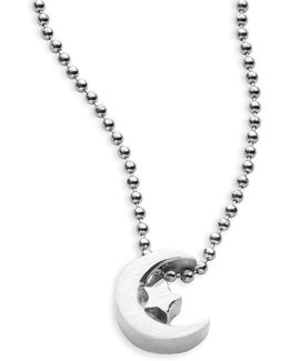 Little Faith Sterling Silver Crescent Moon Necklace