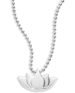 Little Faith And Symbols Lotus Necklace