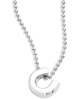 Little Luck Sterling Silver Horseshoe Necklace