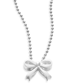 Little Princess Sterling Silver Bow Necklace