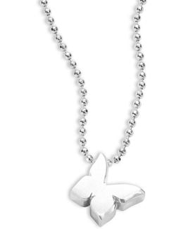 Little Princess Sterling Silver Butterfly Necklace