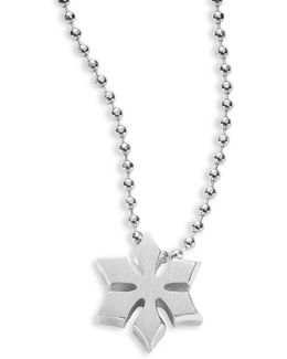Sterling Silver Snowflake Icon Necklace