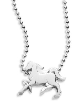 Sterling Silver Horse Icon Necklace