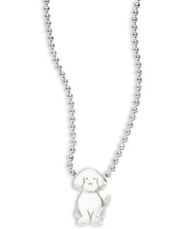Sterling Silver Dog Icon Necklace