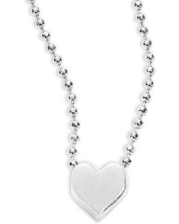 Sterling Silver Heart Icon Necklace