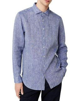 Slim-fit Casual Button-down Linen Shirt