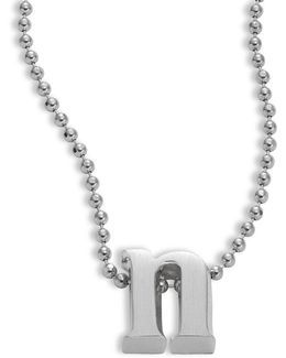 Icon Sterling Silver N Pendant Necklace