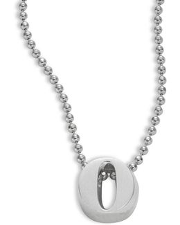 Icon Sterling Silver O Initial Pendant Necklace