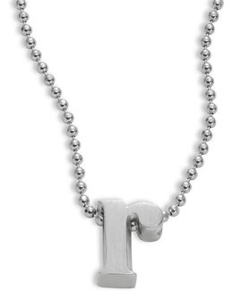 Icon Sterling Silver R Pendant Necklace