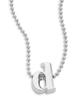 Icon Sterling Silver Initial Necklace