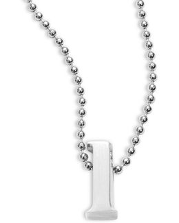 Icon Sterling Silver L Initial Necklace