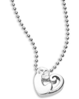 Sterling Silver Activist Love Monkey Icon Necklace