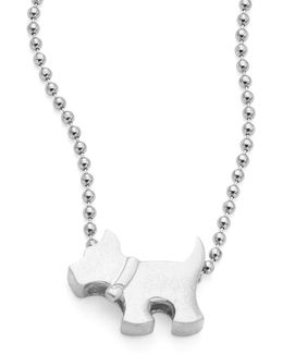 Sterling Silver Scottie Dog Icon Necklace