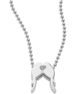 Love Birds Sterling Silver Pendant Necklace