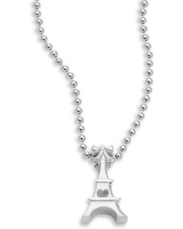 Sterling Silver Eiffel Tower Icon Necklace
