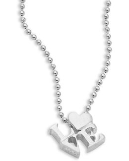 Sterling Silver Love Icon Necklace