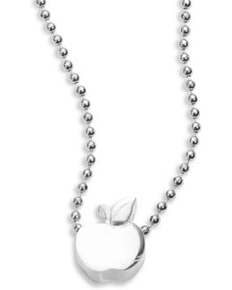 Sterling Silver Apple Icon Necklace
