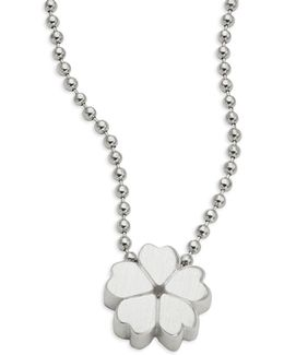 Sterling Silver Cherry Blossom Icon Necklace