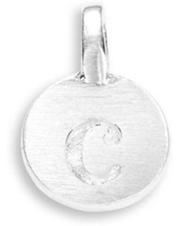 Sterling Silver C Charm