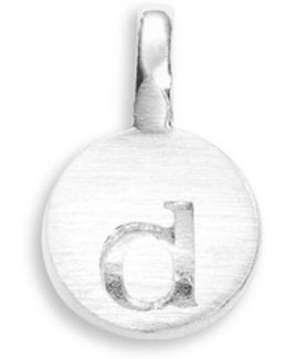 Sterling Silver D Charm