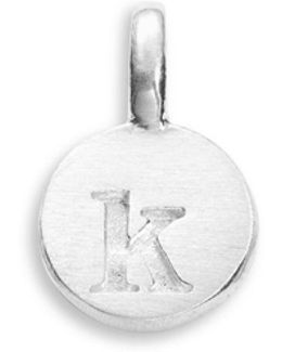 Sterling Silver K Charm