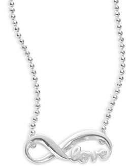 Little Faith Sterling Silver Infinity Necklace