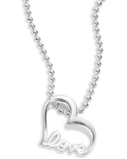 Little Silver Sterling Silver Heart Necklace