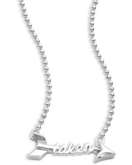 Little Words Sterling Silver Taken Necklace