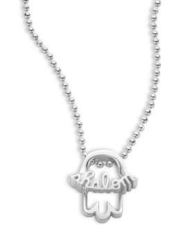 Faith And Symbols Sterling Silver Hamsa Necklace