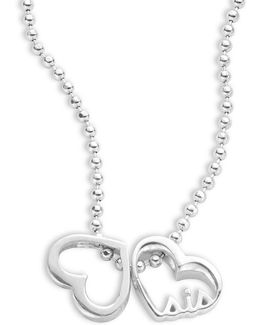 Little Words Sterling Silver Heart Necklace