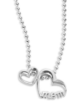 Little Words Mom Heart Necklace