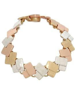 Tricolore Tri-tonal Chevron Bracelet