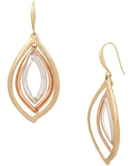 Tri-tonal Orbital Drop Earrings