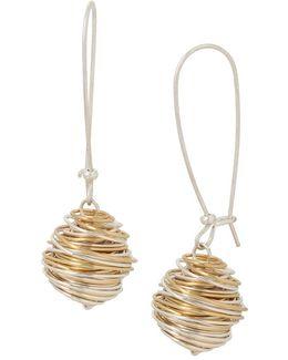 Wire-wrapped Drop Earrings