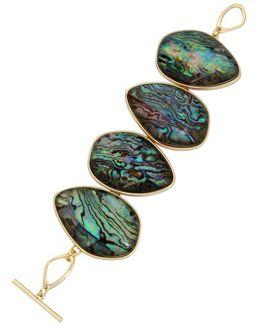 Abalone Goldtone Bracelet