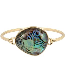 Abalone Goldtone Bangle