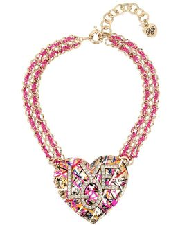 Harlem Cs Crystal Graffiti Necklace