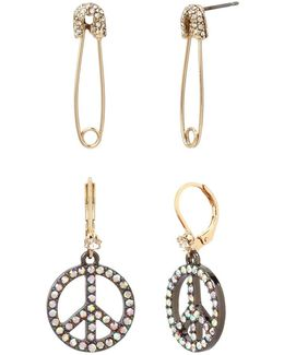 East Harlem Shuffle Crystal Safety Pinset Earrings