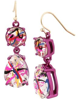 East Harlem Shuffle Crystal Double Drop Earrings