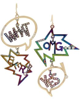 East Harlem Shuffle Crystal Mismatch Drop Earrings