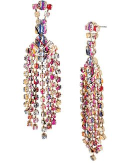 East Harlem Shuffle Crystal Chandelier Drop Earrings