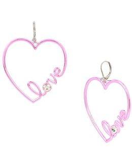 Heart Recolors Crystal Heart Drop Earrings