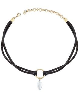 New West Leather Choker Necklace